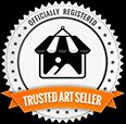 Logo Trusted Art Seller Badge